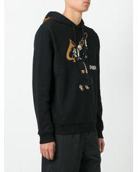 Dolce & Gabbana - Black Trombonist Patch Hoodie for Men - Lyst