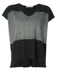 Rag & Bone   Black - V-neck Loose-fit T-shirt - Women - Cotton - S   Lyst