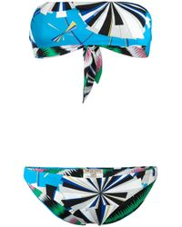 Emilio Pucci | Blue - Printed Bikini - Women - Polyamide/spandex/elastane - 40 | Lyst