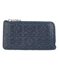 Loewe | Blue Embossed Wallet | Lyst