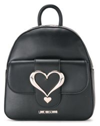 Love Moschino | Black - Love Buckle Backpack - Women - Polyurethane - One Size | Lyst