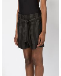 Ann Demeulemeester - Black Striped Shorts - Lyst