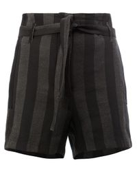 Ann Demeulemeester | Black Striped Shorts | Lyst
