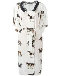 Stella McCartney | White Sailor Collar Dog Dress | Lyst