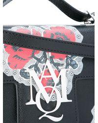 Alexander McQueen - Black Poppy Print Crossbody Satchel - Lyst