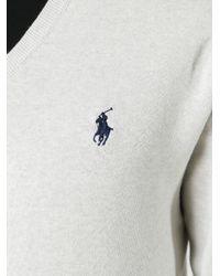 Polo Ralph Lauren - Gray V-neck Jumper for Men - Lyst