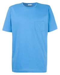 Sunspel | Blue Chest Pocket T-shirt for Men | Lyst