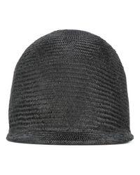 Sacai | Black - Straw Cap - Women - Straw - One Size | Lyst
