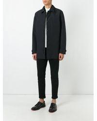 Z Zegna - Black Classic Buttoned Coat for Men - Lyst