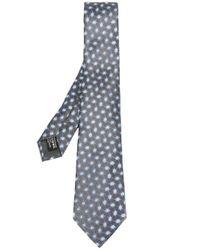 Giorgio Armani | Gray Geometric Pattern Tie for Men | Lyst