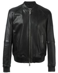 DSquared² - Black Classic Bomber Jacket for Men - Lyst