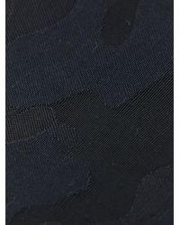Saint Laurent   Blue Tonal Camouflage Skinny Tie for Men   Lyst