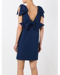 MSGM - Blue Bow Detail Dress - Lyst