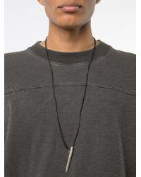 Ma+ - Black Pencil Necklace - Lyst