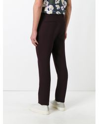 Marni | Red Slim Fit Trousers for Men | Lyst
