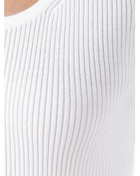 MICHAEL Michael Kors - White Ribbed Jumper - Lyst
