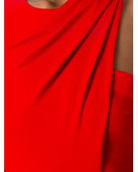 Alexander Wang - Red Draped One Shoulder Gown - Lyst