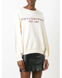 Philosophy Di Lorenzo Serafini | White Logo Print Sweatshirt | Lyst
