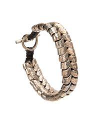 Tobias Wistisen | Metallic Interlaced Bracelet for Men | Lyst
