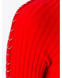 Alexander Wang - Red Piercing Detailed Dress - Lyst