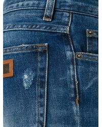 Dolce & Gabbana - Blue Ripped Detail Jeans for Men - Lyst