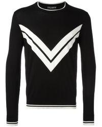 Dolce & Gabbana | Black Geometric Jumper for Men | Lyst