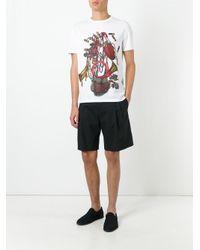 Maison Margiela - White Equestrian Print T-shirt for Men - Lyst