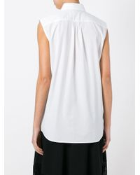 Dolce & Gabbana - White Piped Sleeveless Shirt - Lyst