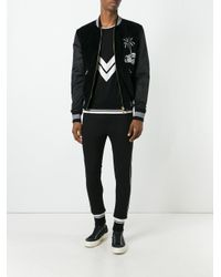 Dolce & Gabbana | Black - Car & Palm Tree Patch Bomber Jacket - Men - Cotton/polyamide/polyester/bos Taurus - 48 for Men | Lyst