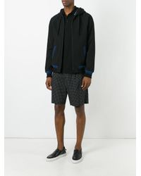 Dolce & Gabbana - Black Striped Trim Hoodie for Men - Lyst