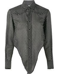 Saint Laurent   Black Polka Dot Print Shirt   Lyst