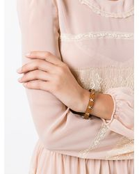 RED Valentino - Brown Stars Studded Bracelet - Lyst