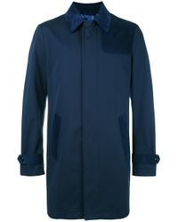 Etro | Blue Single Breasted Coat for Men | Lyst