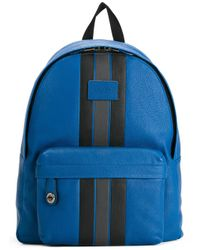 COACH | Blue Striped Zipped Backpack for Men | Lyst
