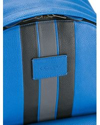 COACH - Blue Striped Zipped Backpack for Men - Lyst