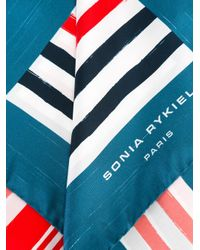 Sonia Rykiel - Blue Striped Scarf - Lyst