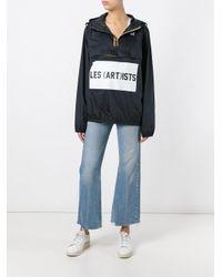 LES (ART)ISTS - Black K-way X Les (art)ists Logo Print Jacket - Lyst