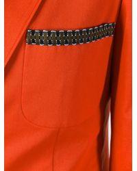 Etro - Red Button Up Blazer - Lyst