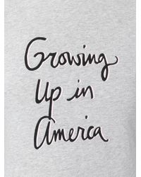 Bella Freud - Gray Growing Up In America T-shirt - Lyst
