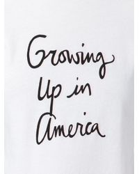 Bella Freud | White Growing Up In America T-shirt | Lyst