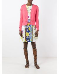 Etro - Pink Button Up Cardigan - Lyst