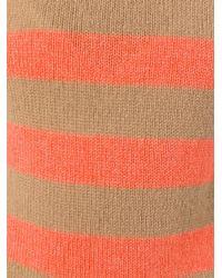 Etro - Orange Striped Jumper - Lyst