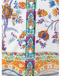 Etro - White Floral Print Shirt - Lyst