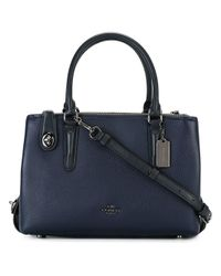 COACH | Blue Removable Strap Tote | Lyst