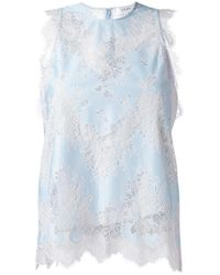 Carven | Blue Lace Tank Top | Lyst