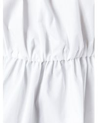 Dondup - White Off-shoulders Ruffled Blouse - Lyst