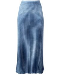 Ermanno Scervino | Blue Midi Pleated Skirt | Lyst