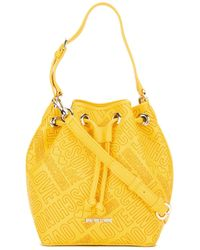 Love Moschino | Yellow Logo Embossed Bucket Shoulder Bag | Lyst