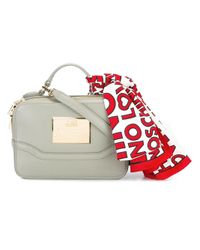 Love Moschino | Gray Scarf Detail Tote | Lyst