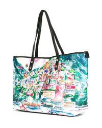 Love Moschino - Multicolor Landscape Print Tote - Lyst